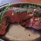 Oven ready Beef Tenderloin on Thyme and Rosemary