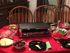 Raclette Grill waiting for the guests